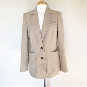 Karl Lagerfeld Notch Lapel Tan Blazer Jacket 10